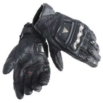 Dainese 4 Stroke Long Black Riding Gloves