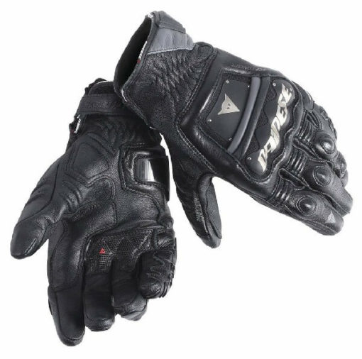 Dainese 4 Stroke Long Black Riding Gloves