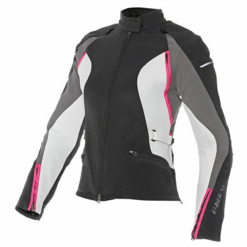 Dainese Arya Lady Black Dark Gull Grey Fushcia Riding Jacket