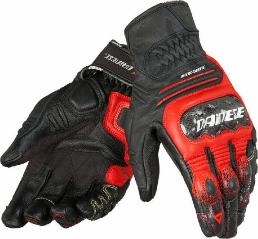 Dainese Carbon Cover S ST Nero Rosso Lava Bianco Riding Gloves