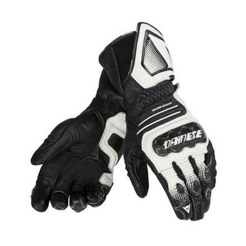 Dainese Carbon Cover ST Bianco Nero Riding Gloves