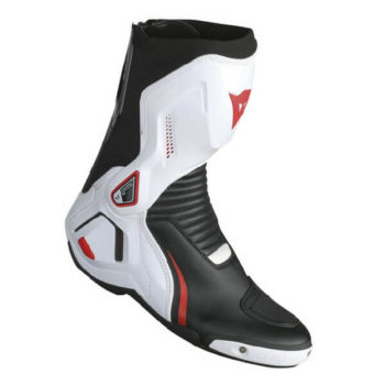 Dainese Course D1 Out Air Black White Fluorescent Red Riding Boots