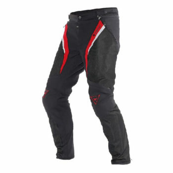 Dainese Drake Super Air Textile Black Red White Riding Pants