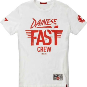 Dainese Fast Crew White Riding T Shirt