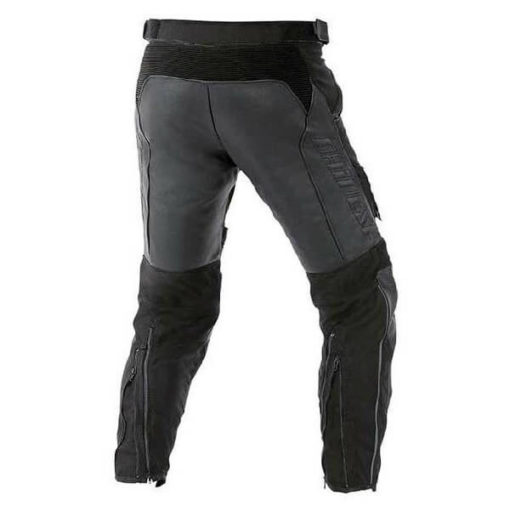 Dainese Horizon Leather Tex Black Riding Pants 1