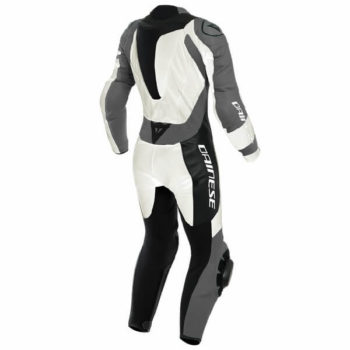 Dainese Killanlane 1 PC Perforated Lady Pearl White Charcoal Grey Black Inner Riding Suit 1