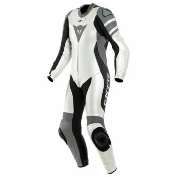 Dainese Killanlane 1 PC Perforated Lady Pearl White Charcoal Grey Black Inner Riding Suit