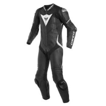 Dainese Laguna Sec 4 1 PC Leather Black White Riding Suit