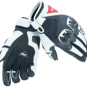 Dainese MIG C2 Unisex Black White Riding Gloves