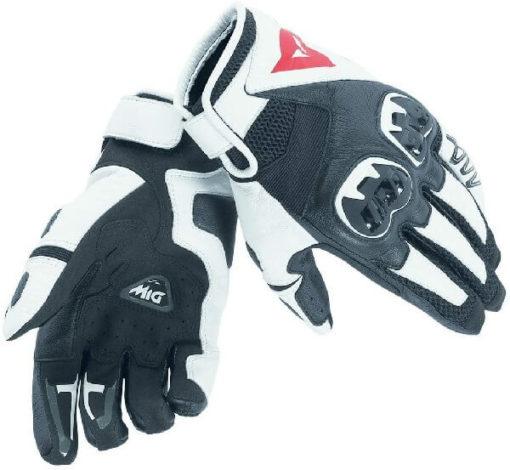 Dainese MIG C2 Unisex Black White Riding Gloves