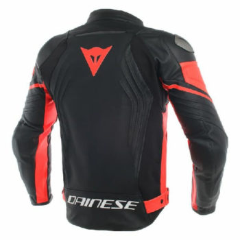 Dainese Racing 3 Perforated Leather Black Fluorescent Red Riding Jacket 1