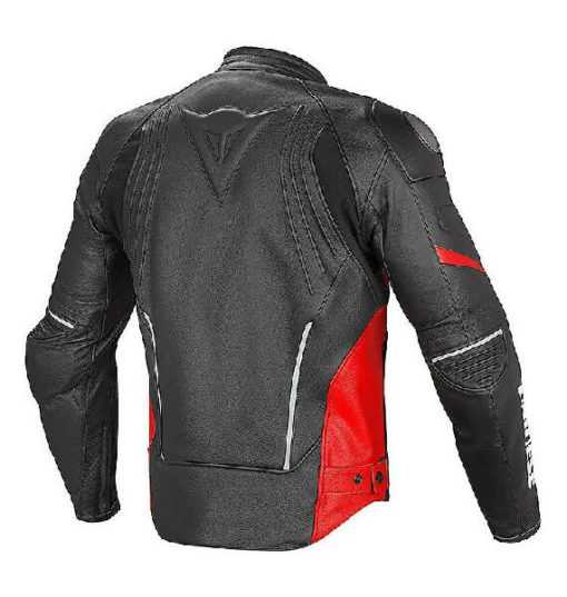 Dainese Racing D1 Perforated Leather Black Red Riding Jacket 1