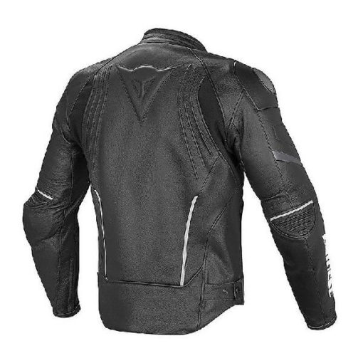 Dainese Racing D1 Perforated Leather Black White Riding Jacket 1