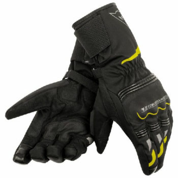 Dainese Tempest Unisex D Dry Long Black Fluorescent Yellow Riding Gloves