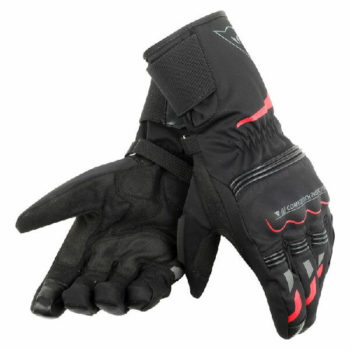 Dainese Tempest Unisex D Dry Long Black Red Riding Gloves