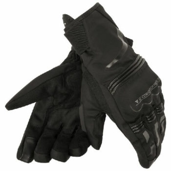 Dainese Tempest Unisex D Dry Short Black Riding Gloves