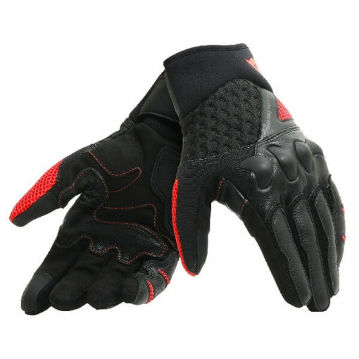 Dainese X Moto Black Fluorescent Red Riding Gloves
