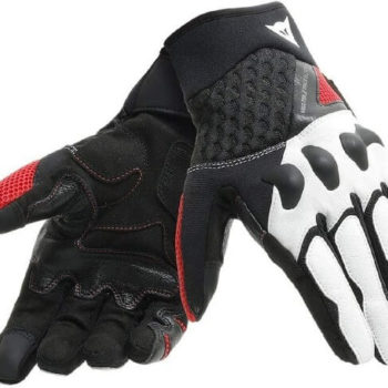 Dainese X Moto Black White Lava Red Riding Gloves