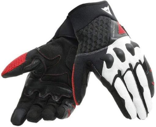 Dainese X Moto Black White Lava Red Riding Gloves