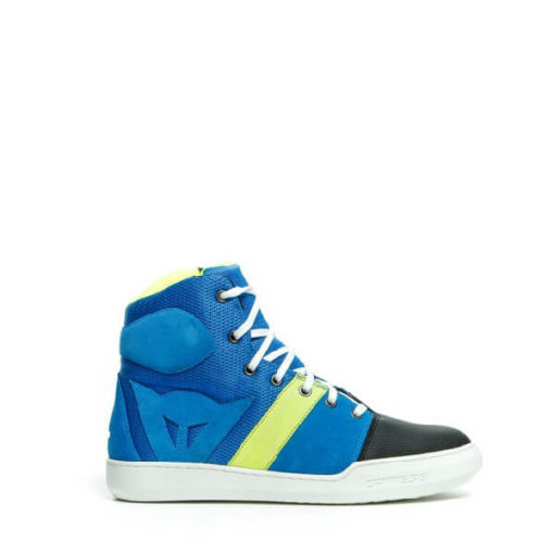 Dainese York Air Performance Blue Fluorescent Yellow Riding Shoes 1