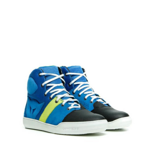 Dainese York Air Performance Blue Fluorescent Yellow Riding Shoes