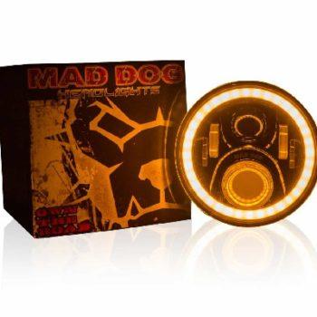 Maddog FR60 Orange blue Headlight 2