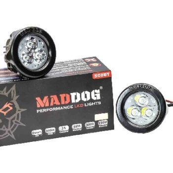 Maddog Pair Of White Scout Auxiliary Lights 1