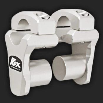 Rox Pivoting Handlebar Risers 44mm Rise 28.5mm Handlebar Anodized Aluminium