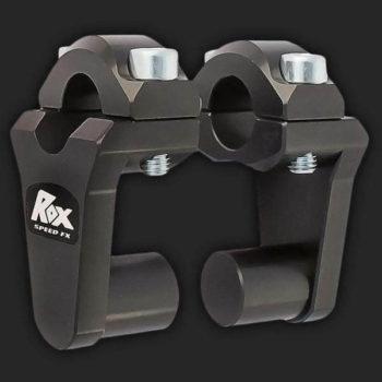 Rox Pivoting Handlebar Risers 51mm Rise 22mm Handlebar Anodized Black