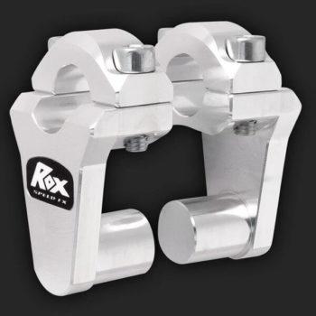 Rox Pivoting Handlebar Risers 51mm Rise 22mm Handlebar Natural Aluminium