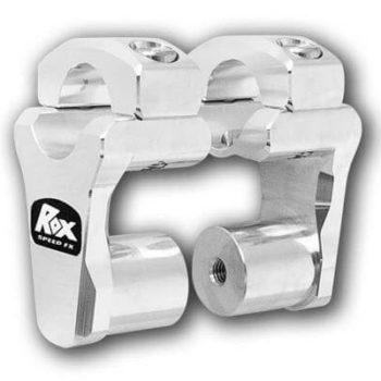 Rox Pivoting Handlebar Risers 51mm Rise 28.5mm Handlebar Anodized Aluminium
