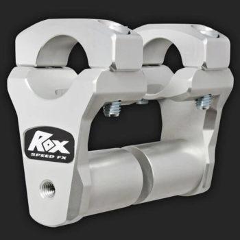Rox Pivoting Handlebar Risers 51mm Rise 28.5mm Handlebar Anodized Aluminium Long Stem