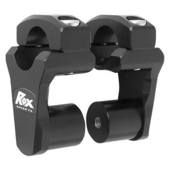 Rox Pivoting Handlebar Risers 51mm Rise 28.5mm Handlebar Anodized Black