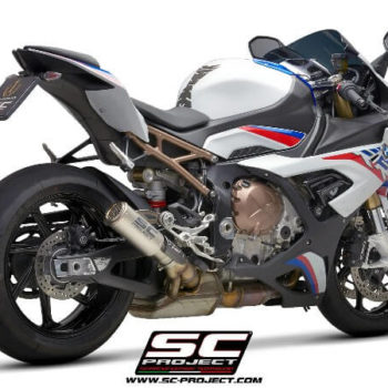 SC Project CRT B33 38TR Slip On Titanium Exhaust With Titanium Mesh BMW S1000 RR 2