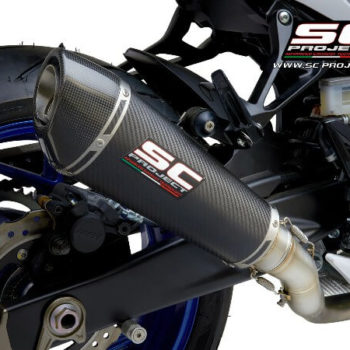 SC Project Conical S15 34C Slip On Carbon Fiber Exhaust Suzuki GSX S750 3