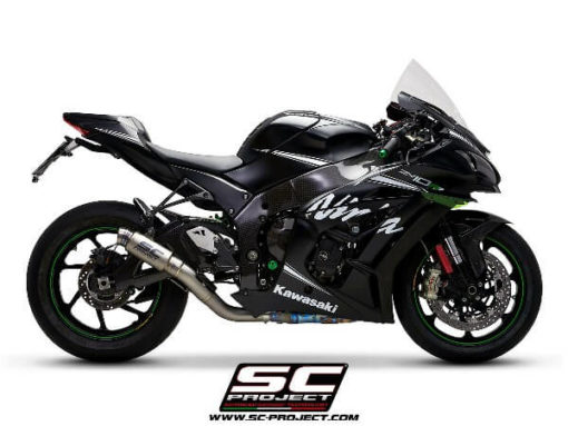 SC Project GP70R K22 70T Titanium Slip on Exhaust for Ninja ZX10R 1