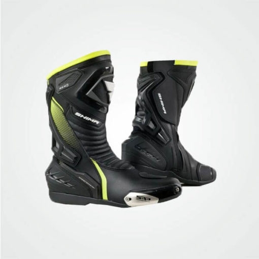 Shima RSX 6 Black Fluorescent Green Riding Boots