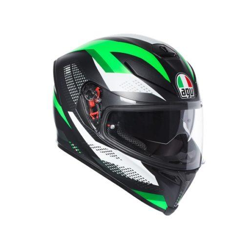 AGV K5 S Multi Plk Marble Matt Black White Green Full Face Helmet new