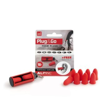 Alpine Hearing Protection Ear Plugs Motosafe Plug Go Foam