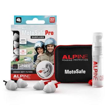 Alpine Hearing Protection Earplugs Motosafe Pro