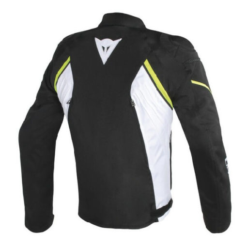 Dainese Avro D2 Tex Black White Fluorescent Yellow Riding Jacket 1
