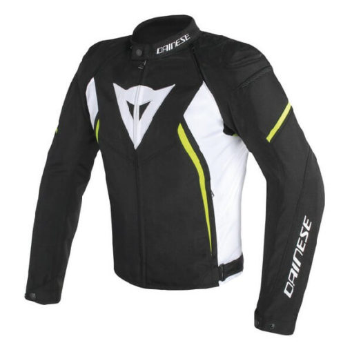Dainese Avro D2 Tex Black White Fluorescent Yellow Riding Jacket