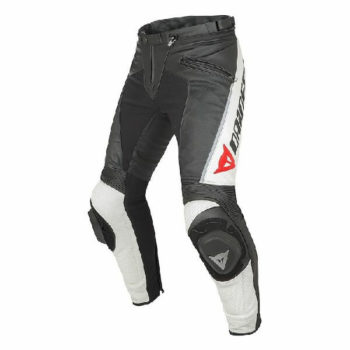 Dainese Delta Pro C2 Perforated Black White Leather Riding Pant 2020