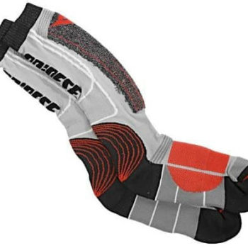 Dainese Knee High Red Black Grey Sock