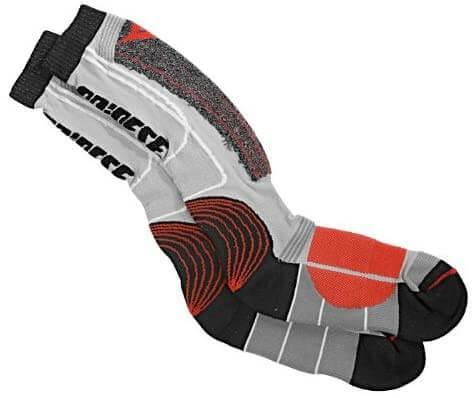 Dainese Knee High Red Black Grey Sock