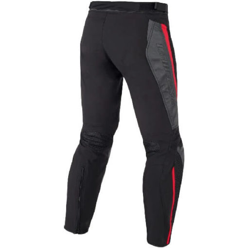 Dainese Mig Leather Textile Black Red Riding Pants 1