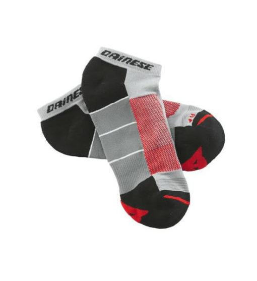 Dainese Motorbike Footie Red Grey Black Sock