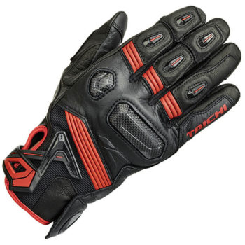 RS Taichi Raptor Leather Red Gloves