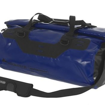 Touratech Black Blue Dry Bag Adventure Rack Pack Luggage Bag