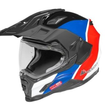 Touratech Red Blue Aventuro Carbon 2 Sport Duel Sport Helmet 1